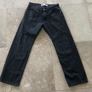 Black Levi 505 Regular Jeans